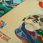 FIFA Women's World Cup posters preserved as a plaque mount at Creative Laminating, Moncton, NB