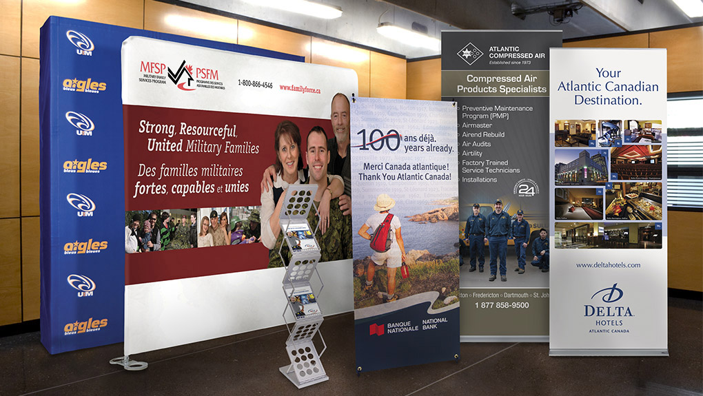 Displays And Graphics Creative Laminating Displays Exhibits Delectable Product Display Stands Canada